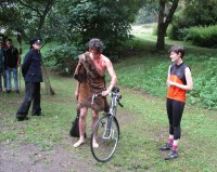 Lives Pass By - my play in which a Bronze Age Man, a Victorian Railway Inspector and Today's Young Cyclist meet in the park.