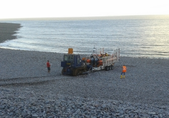 Launching Minehead Lifeboat